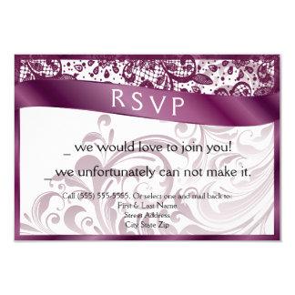 Cartão elegante 3.5x5 do redemoinho RSVP Convite 8.89 X 12.7cm