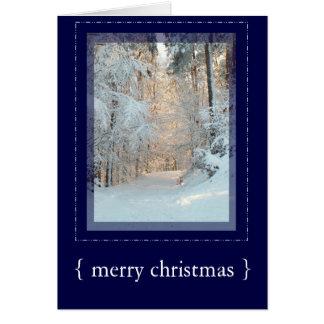 Cartão elegante 3 do Feliz Natal da cena do