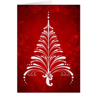 Cartão elegante da árvore de Natal
