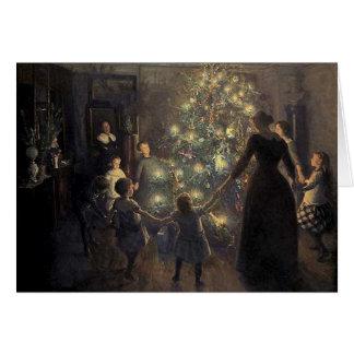 Cartão elegante da árvore do natal vintage