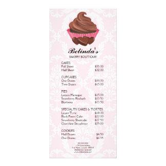Cartão elegante da cremalheira da padaria do 10.16 x 22.86cm panfleto