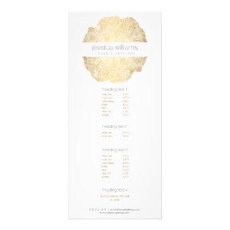 Cartão elegante da cremalheira do salão de beleza 10.16 x 22.86cm panfleto