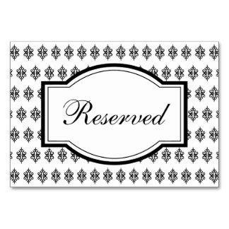 Cartão elegante da mesa do laço