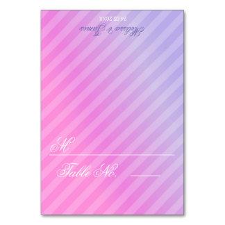 Cartão elegante da mesa do Lilac do rosa Pastel