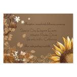 Cartão elegante da recepção de casamento dos giras modelo de cartões de visita