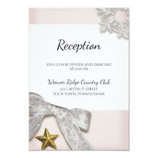 Cartão elegante da recepção de casamento no