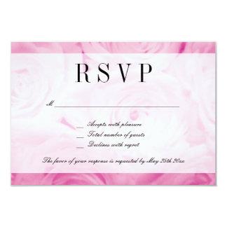 Cartão elegante da resposta do casamento da flor convite 8.89 x 12.7cm