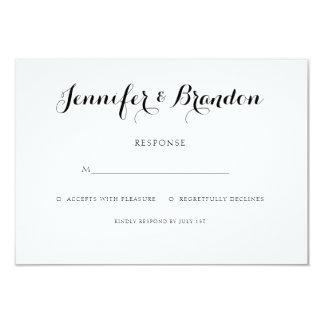 Cartão elegante da resposta do convite do