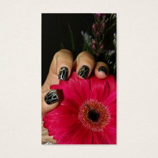 Cartão elegante das unhas