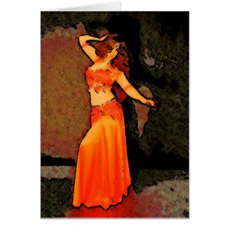 Cartão elegante de Bellydancer