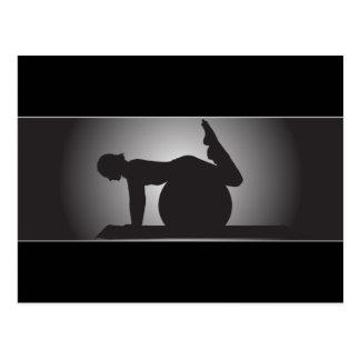 Cartão elegante de Pilates