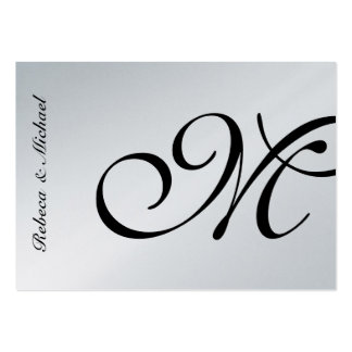 Cartão elegante de prata de RSVP Modelo Cartoes De Visitas