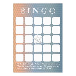 Cartão elegante do Bingo do chá de panela da Cartão De Visita Grande