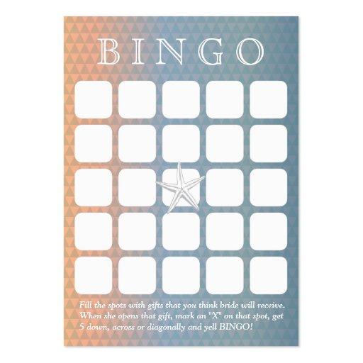 Cartão elegante do Bingo do chá de panela da estre Modelo Cartão De Visita