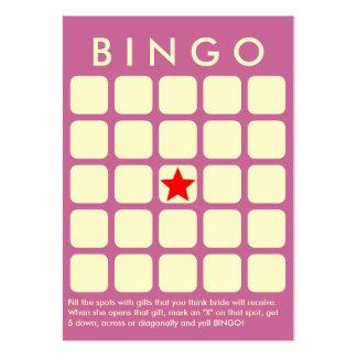 Cartão elegante do Bingo do chá de panela do roxo Cartão De Visita Grande