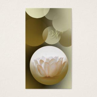 Cartão elegante do buiseness dos lótus brancos do