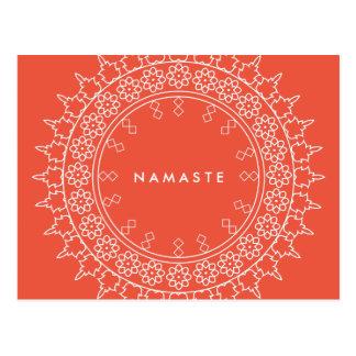 Cartão elegante do coral da ioga de Namaste da