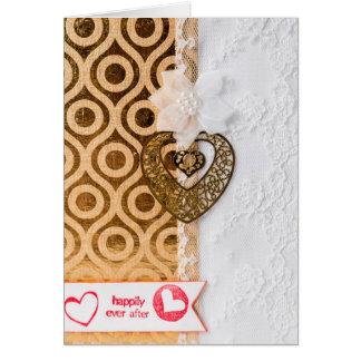 Cartão elegante do dia dos namorados