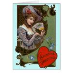 Cartão elegante do dia dos namorados do Victorian