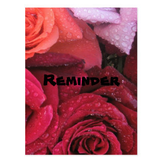 Cartão elegante do lembrete dos rosas