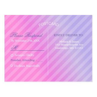 Cartão elegante do Lilac RSVP do rosa Pastel