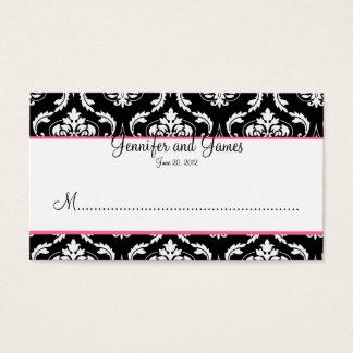 Cartão elegante do lugar da recepção de casamento