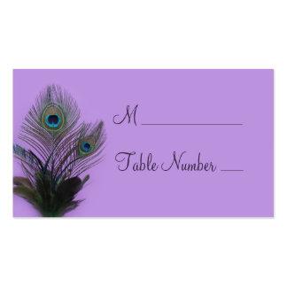 Cartão elegante do lugar do pavão (roxo) cartoes de visitas