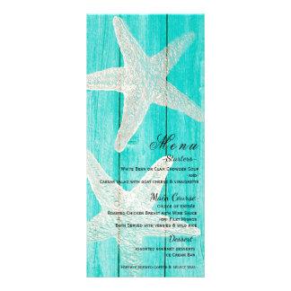 Cartão elegante do menu da praia da madeira & da