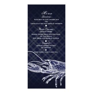 Cartão elegante do menu do partido dos azuis