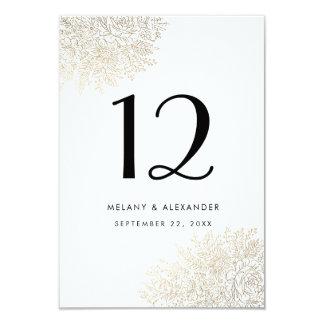 Cartão elegante do número da mesa do laço do