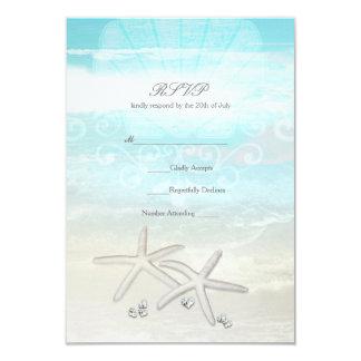 Cartão elegante do verão RSVP da estrela do mar