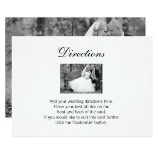 Cartão elegante dos sentidos da foto do casamento convite 12.7 x 17.78cm