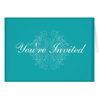 Cartão elegante e formal do convite