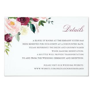 Cartão elegante floral da inserção dos detalhes do