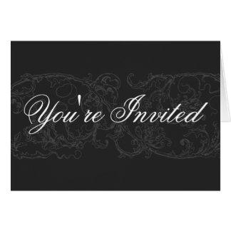 Cartão elegante & formal do convite