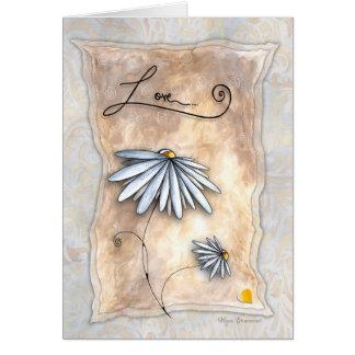 Cartão elegante lunático do coração do amor da