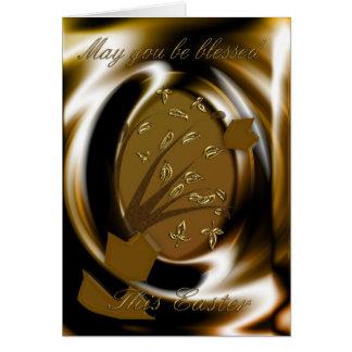 Cartão elegante religioso do ovo da páscoa