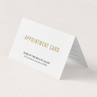 Cartão elegante simples da nomeação da beleza