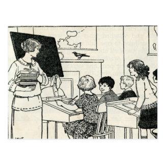 Cartão elementar do professor de escola primária