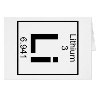 Cartão Elemento 003 - Li - lítio (cheio)