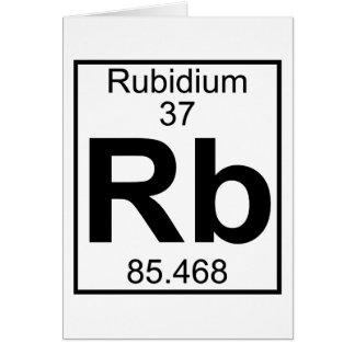 Cartão Elemento 037 - Rb - rubídio (cheio)