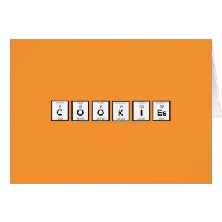 Cartão Elemento químico Z57c7 dos biscoitos