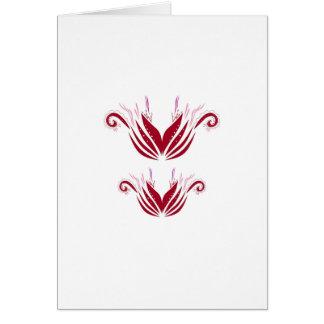 Cartão Elementos do design vermelhos no branco
