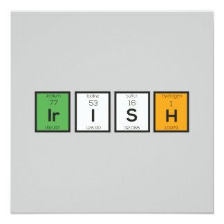 Cartão Elementos químicos irlandeses Zy4ra