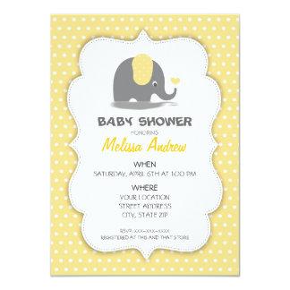 Cartão Elephant baby shower invitation