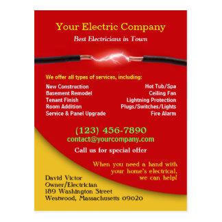 Cartão elétrico cartões postais