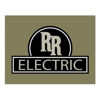 Cartão elétrico do vintage do trilho rápido