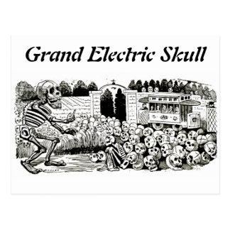 Cartão elétrico grande do crânio cartão postal