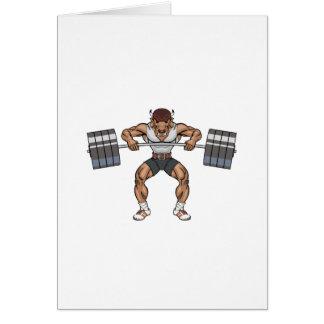 Cartão elevador de peso do bisonte