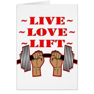 Cartão Elevador vivo do amor do halterofilismo